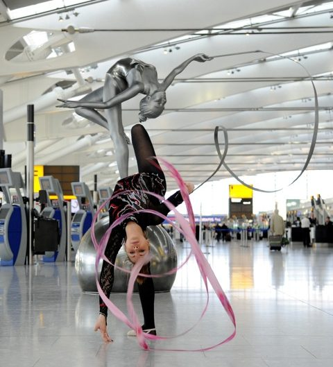 British Gymnastics at Heathrow T5
