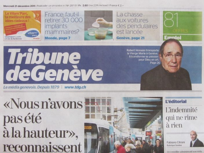 Tribune de Geneve / Dec 2011